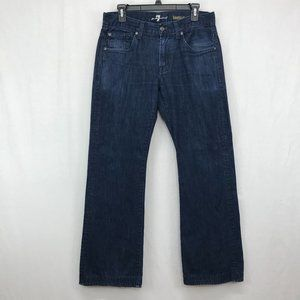 7 For All Mankind Boot Cut Blue Denim Jeans Womens